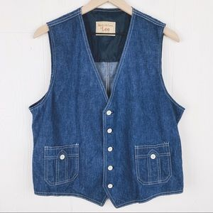 Vintage 70's Lee Lightweight Cotton Denim Vest